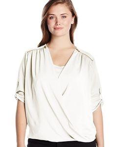 Calvin Klein surplice blouse